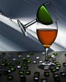 Begrepp för två vinexponeringsglas arkivbild