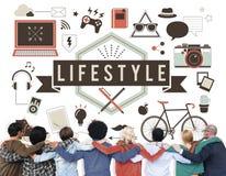 Begrepp för uppförande för kultur för vanor för livsstilhobbypassion royaltyfri bild