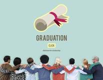 Begrepp för utbildning för kurs för diplomgradavläggande av examen royaltyfri foto
