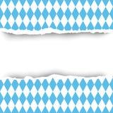 Begrepp för utrymme för kopia för garnering för Bayern flagga rivit sönder pappers- sömlöst modellbakgrund vektor illustrationer