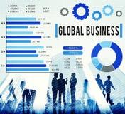 Begrepp för utveckling för tillväxt för global affär företags royaltyfri fotografi