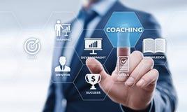 Begrepp för utveckling för utbildning för affär för coachningMentoringutbildning E-lärande Fotografering för Bildbyråer