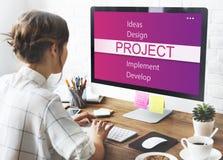 Begrepp för utveckling för verktyg för projektdesign royaltyfria foton