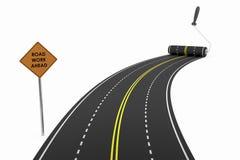 Begrepp för vägkonstruktion Fotografering för Bildbyråer