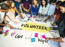 Begrepp för vänlighet för hopp för volontärhjälpdonation fotografering för bildbyråer