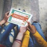 Begrepp för värde för befordran för marknadsföringsprissättningpris royaltyfri fotografi
