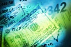 Begrepp för valutahandel Arkivbilder