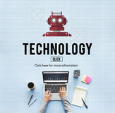 Begrepp för vetenskap för internet för teknologiDigital evolution Fotografering för Bildbyråer