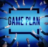Begrepp för vision för planläggning för spelplanstrategi taktiskt Royaltyfri Foto