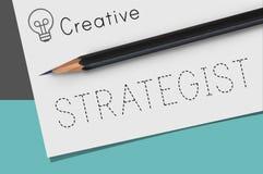 Begrepp för vision för taktik för strategistrateg strategiskt Arkivbild