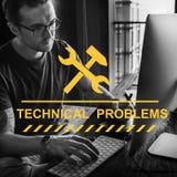 Begrepp för Webpage för Website för konstruktionshammarekil Arkivfoton