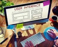 Begrepp för Website för mallorienteringsrengöringsduk UI Arkivbilder