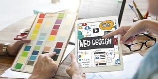 Begrepp för Website för orientering för sida för rengöringsdukdesign royaltyfri bild