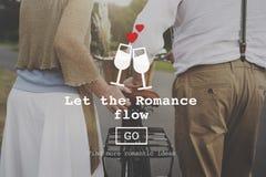 Begrepp för Website för valentin för förälskelsecitationstecken romanskt arkivbild