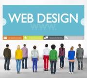 Begrepp för Website för webbsida för Www rengöringsdukdesign Fotografering för Bildbyråer