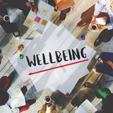 Begrepp för Wellness för WellbeingPositivityMindset tänkande arkivfoton