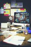 Begrepp för Workspace för idéer för information om kontorsarbetsplats Arkivfoto