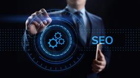 Begrepp f?r teknologi f?r aff?r f?r SEO Search motoroptimisation digitalt marknadsf?ra royaltyfria foton