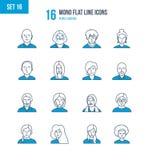 Begrepp - folk och deras avatars, bilder av, yrke royaltyfri illustrationer