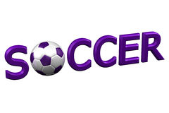 Begrepp: Fotboll framförande 3d Fotografering för Bildbyråer