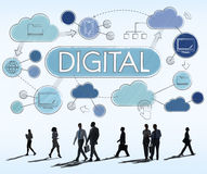 Begrepp för aktie Digital elektroniskt för avancerad teknologi Arkivfoton