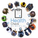 Begrepp för analys för medicinskt villkor för diagnos för vård- kontroll Fotografering för Bildbyråer