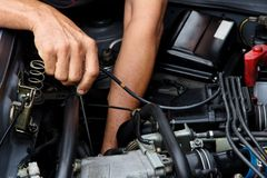 Begrepp för auto reparation Royaltyfria Foton