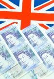 Begrepp för brittiskt pund Royaltyfria Bilder