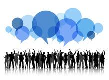 Begrepp för bubbla för anförande för beröm för affärsfolk Royaltyfri Bild
