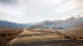 Begrepp för destination för lopp för landskaplandsväg lantligt Royaltyfri Fotografi
