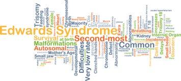 Begrepp för Edwards syndrombakgrund Arkivfoton
