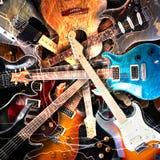 Begrepp för elektrisk gitarr Arkivbilder