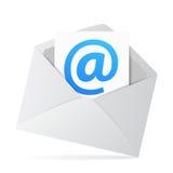 Begrepp för Emailrengöringsdukkontakt Royaltyfria Bilder