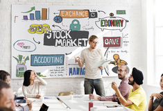 Begrepp för Forex för ekonomi för aktiemarknadfinansutbyte Arkivbilder