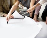 Begrepp för formgivareThinking Ideas Creative orientering Royaltyfri Bild