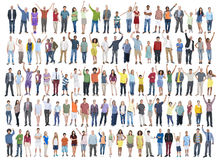 Begrepp för gemenskap för lycka för beröm för folkmångfaldframgång Arkivfoto