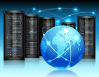 Begrepp för globalt nätverk Arkivfoto