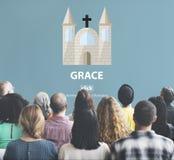 Begrepp för Grace Hope Poise Spiritual Worship trogud Royaltyfri Fotografi