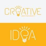 Begrepp för idé för vektoralfabetdesign idérikt med den plana teckensymbolen Royaltyfri Foto