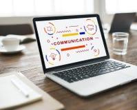 Begrepp för information om kommunikationsanslutningsväxelverkan Arkivbilder