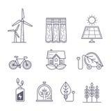 Begrepp för miljö-, ekologi-, ekosystem- och gräsplanteknologi Arkivbild