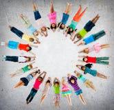 Begrepp för mångfald för barndom för barnungar gladlynt Royaltyfri Fotografi