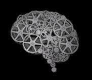Begrepp för mänsklig hjärna Arkivbilder