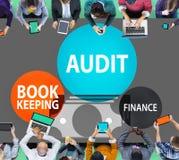 Begrepp för rapport för pengar för revisionsbokföringfinans Arkivfoton
