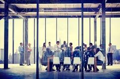 Begrepp för samhörighetskänsla för folk för affärsorganisation funktionsdugligt Arkivfoton
