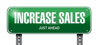 begrepp för tecken för förhöjningförsäljningsstolpe Arkivbild