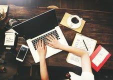 Begrepp för teknologi för internet för affärskommunikation Arkivfoton
