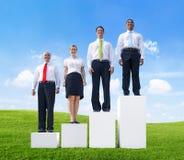 Begrepp för tillväxt för samarbete för affärstillväxtteamwork Arkivfoto