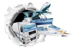 Begrepp för transportlogistiklast Arkivfoton