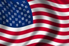 Begrepp för USA spionflagga Arkivbild